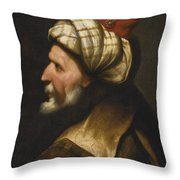 Profile Of A Barbary Pirate Throw Pillow