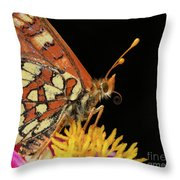 Profile Of A Butterfly Throw Pillow