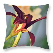 Profile Of A Day Lily Throw Pillow