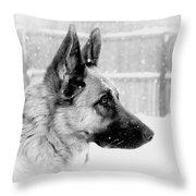 Profile Of A German Shepherd Throw Pillow