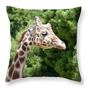 Profile Of A Giraffe Throw Pillow