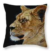 Profile Of A Lioness Throw Pillow