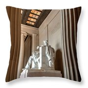 Profile Of A President Throw Pillow