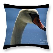 Profile Of A Swan Throw Pillow
