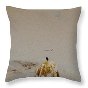 Profile Of Our New Friend Throw Pillow