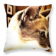 Profile Of The Cat Throw Pillow