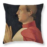 Profile Portrait Of Cardinal Philippe De Levis Throw Pillow