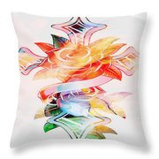 Profound Thought Cross And Roses Throw Pillow