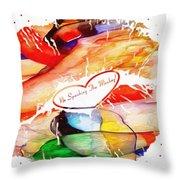Profound Thought No Spanking The Monkey Throw Pillow