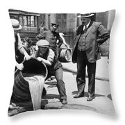 Prohibition, C1921 Throw Pillow