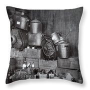 Prohibition Confiscated Stills  1920's Throw Pillow