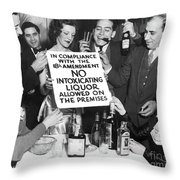 Prohibition Ends Let's Party Throw Pillow