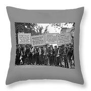 Prohibition Protestors Throw Pillow