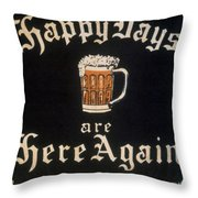 Prohibition: Repeal, C1933 Throw Pillow