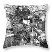 Prohibition Stills Inspected By Treasury Agents Throw Pillow