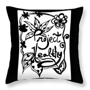 Project Healthy Throw Pillow