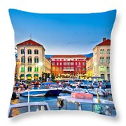 Prokurative Square In Split Evening Colorful View Throw Pillow