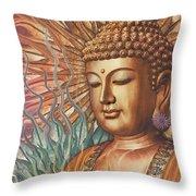 Proliferation Of Peace - Buddha Art By Christopher Beikmann Throw Pillow by Christopher Beikmann