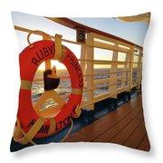 Promenade Deck Throw Pillow