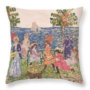 Promenade Throw Pillow by Maurice Brazil Prendergast