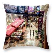 Promenade Of The Explorer Of The Seas Throw Pillow