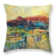 Promise Of Gold Throw Pillow