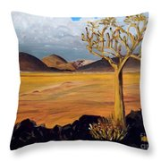 Promise Of Rain Throw Pillow