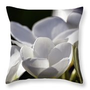 Promises In White Throw Pillow