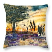 Promising Landscape Throw Pillow
