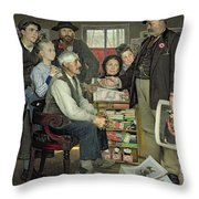 Propaganda Throw Pillow by Jean Eugene Buland