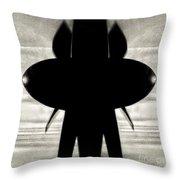 Propeller Abstract Throw Pillow