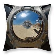 Propeller Hub Throw Pillow