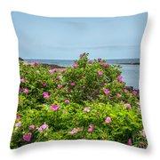 Prospect Harboa Roses Throw Pillow