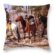Prospecting For Cattle Range 1889 Throw Pillow
