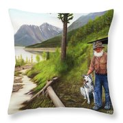Prospector And Best Friend Throw Pillow