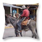 Prospector Re-enactor With Fan Allen Street Tombstone Arizona 200 Throw Pillow