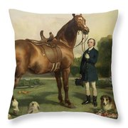 Prosperity Throw Pillow by Sir Edwin Landseer