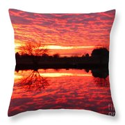 Dramatic Orange Sunset Throw Pillow