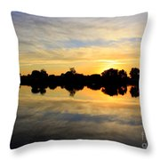 Prosser Sunset - Blue And Gold Throw Pillow