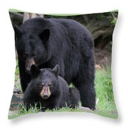 Protecting The Cub Throw Pillow