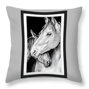 Protection In Black And White Throw Pillow