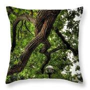 Protective Oak Throw Pillow