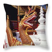 Protective Serpent (naga) Throw Pillow