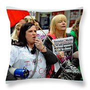 Protest Rally Throw Pillow