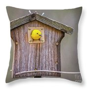 Prothonotary Warbler House Throw Pillow