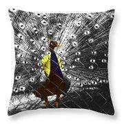 Proud As A Peacock  Throw Pillow