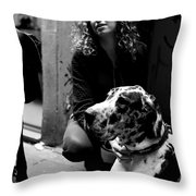 Proud Danes Owner Throw Pillow