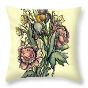 Proud Iris Throw Pillow