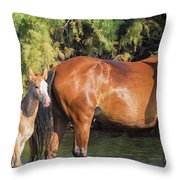 Proud Mare Throw Pillow