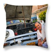 Proud Owner - Faces Of Havana Throw Pillow